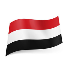 National flag of yemen red white and black vector
