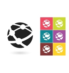 Network icon or social network symbol vector image