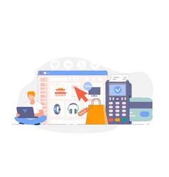online shopping website vector image