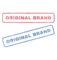 Original brand textile stamps vector
