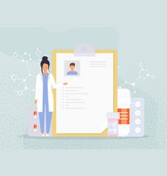 Patient card healthy diagnosis healthcare medical vector