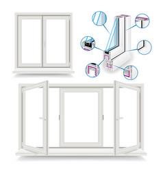 Plastic window infographic template vector