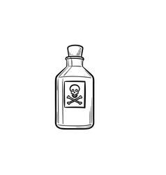 poison hand drawn outline doodle icon vector image