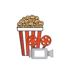 pop corn with cinema icon vector image