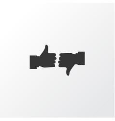 Pros with cons icon symbol premium quality vector