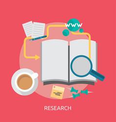 Research conceptual design vector