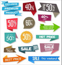 sale colorful badges and stickers design 02 vector image