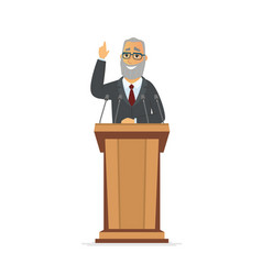 senior politician - cartoon people character vector image