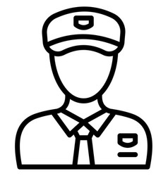 Sergeant icon which can easily modify or e vector