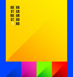 set colorful paper cut yellow blue pink vector image