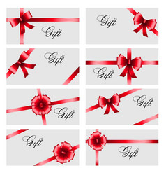 set gift card on white background luxury wide vector image
