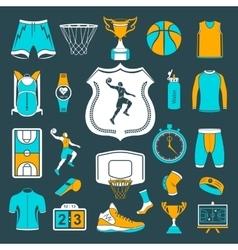 set icons basketball vector image