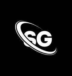 sg logo s g design white sg letter sgs g letter vector image