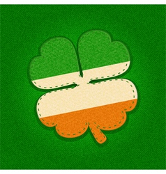 shamrock label on textured background vector image