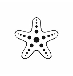 Starfish icon simple style vector