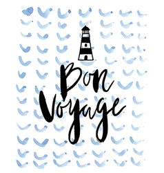 Summer background Bon voyage vector