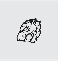 tiger logo design vector image