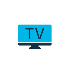 tv icon colored symbol premium quality isolated vector image