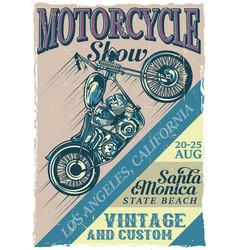 vintage poster vector image