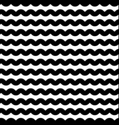 Wavy zigzag lines seamless pattern distorted vector