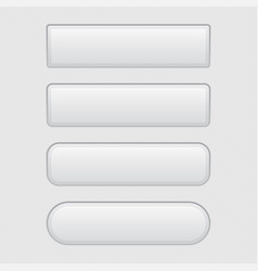 White 3d buttons blank set of buttons vector