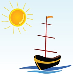 boat on the sea icon vector image vector image