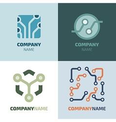 Logotype template vector image