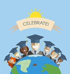 People of the World Graduation and Education vector image vector image