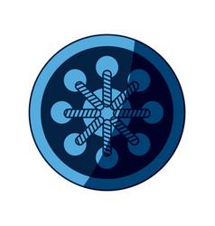 blue dream catcher free spirit decoration ethnic vector image vector image