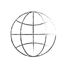 figure global earth planet to network connect vector image