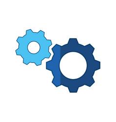 gears machinery piece vector image vector image
