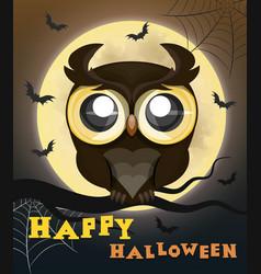 halloween poster owl vector image