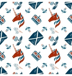 Scottish seamless pattern vector