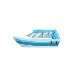 White Modern Motor Type Of Boat Icon vector image