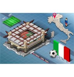 Isometric Stadium San Siro Milan Italy vector image vector image