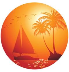ocean yacht vector image