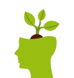 think green profile icon vector image