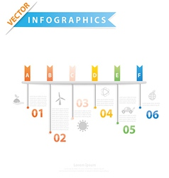 Timeline process step vector image vector image