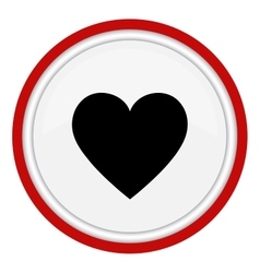 Heart Icon Round icon flat design vector image vector image