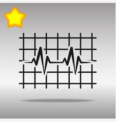 heartbeat black icon button logo symbol concept vector image vector image