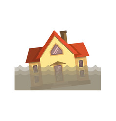 house in dirty water vector image