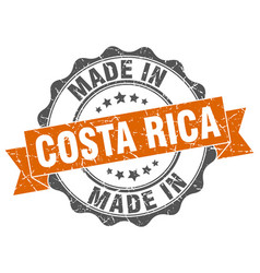 made in costa rica round seal vector image vector image