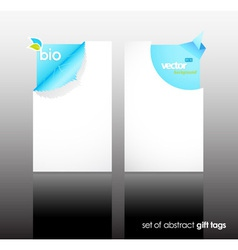 Set of nature gift cards with reflection vector image vector image