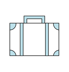 travel suitcase symbol vector image