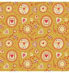 Valentine s Day Seamless Pattern vector image vector image