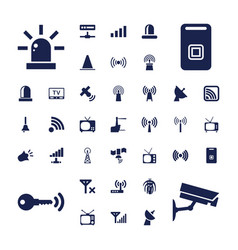 37 signal icons vector