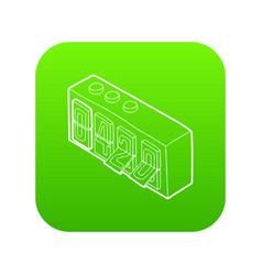 420 on analog flip clock icon green vector image