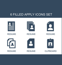 6 apply icons vector