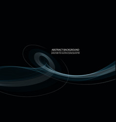 abstract black background with blue transparent vector image