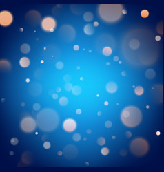 Abstract warm bokeh effect on blue background vector